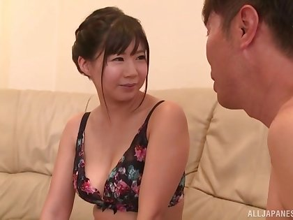 Homemade video of dirty Miho Yui licking his wings and a dick