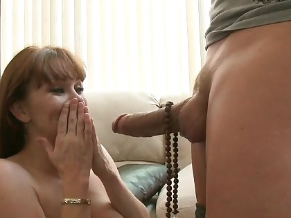MILF with big naturals, accommodation billet sex with the stepson