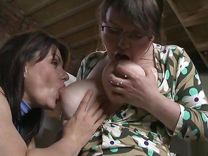 Milena Velba Wants to Play with Marie's Lactating Tits