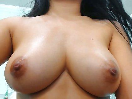 Asian big boobs titty fucking