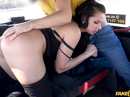 Edict taxi hard sex together with cum on that ass for the young dour