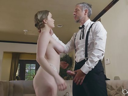 Shy blonde fit together River Fox cheats on her husband with his boss