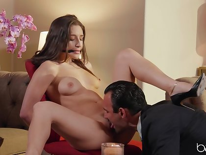 Moaning pleasures during oral foreplay and hard sex
