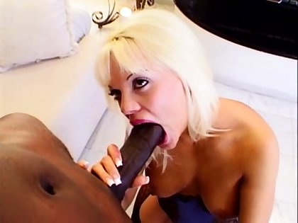 Interracial footjob handjob