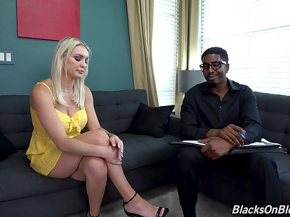 Blonde MILF fucks with the brush funereal psychologist in crazy XXX couch action