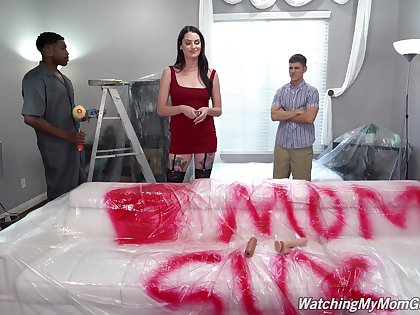 Hardcore interracial troika with cum in indiscretion for Aria Khaide
