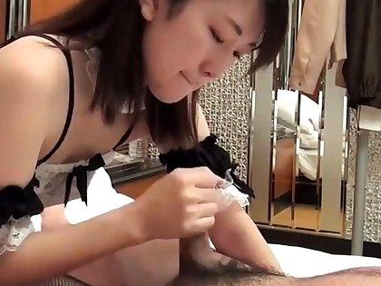 Amateur Asian couple in wild hardcore bonk occasion